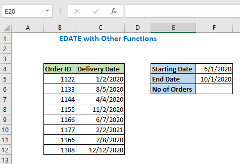 Edate with other functions