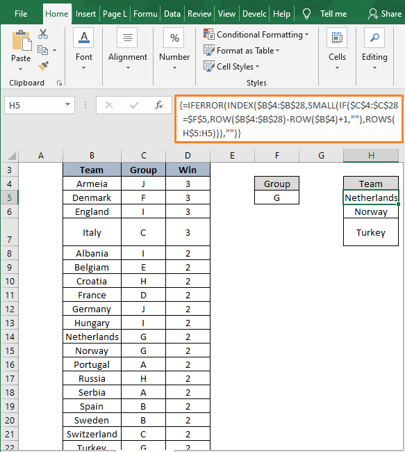 INDEX-SMALL-ROWS - How to Filter Data in Excel using Formula