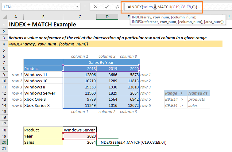 Index Match Function