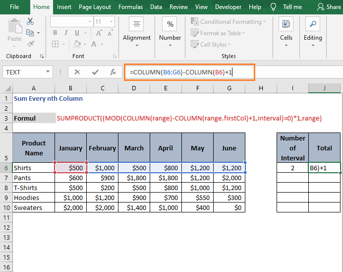Column Reference - Sum Every nth Column