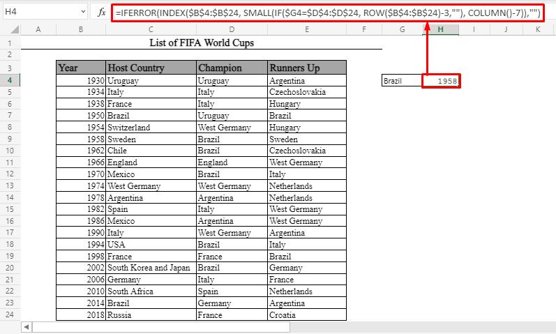 A Complex Array Formula in Microsoft Excel