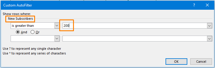 AutoFilter Option for Multiple Filters