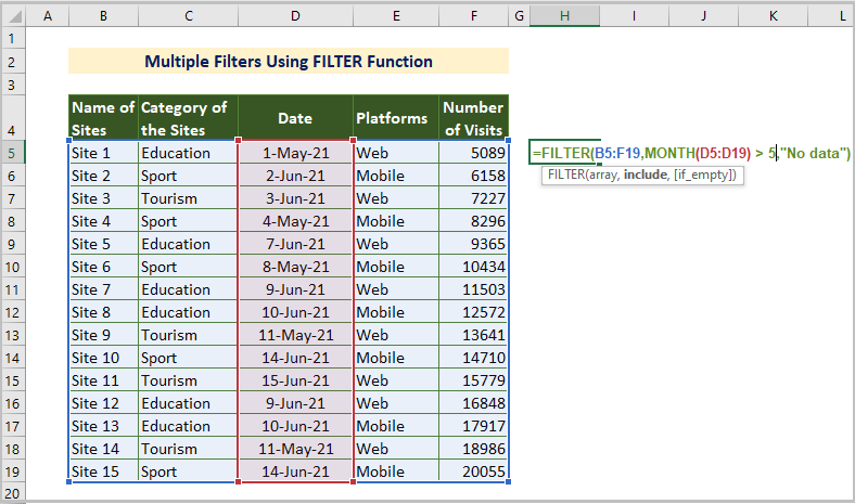 FILTER Function for Multiple Filters