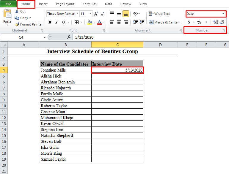 Number Format Options in Excel