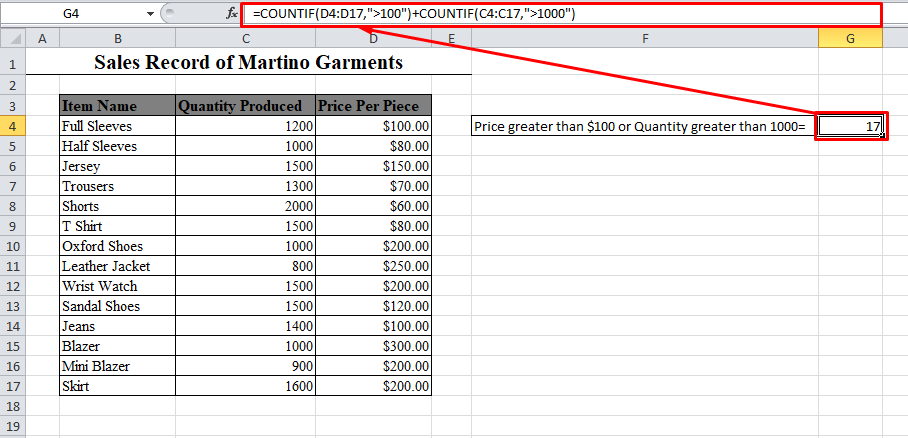 Two COUNTIF Functions in Excel