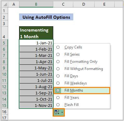 Using AutoFill Options