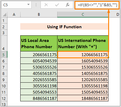 Using IF Function