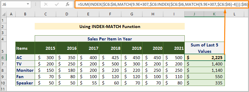 Using INDEX MATCH Function
