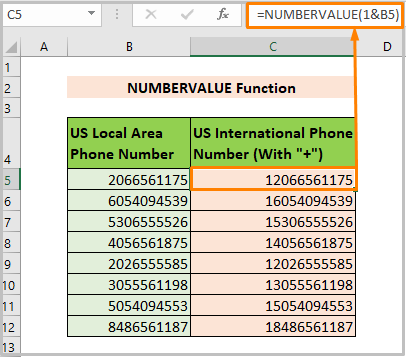 Using NUMBERVALUE Function