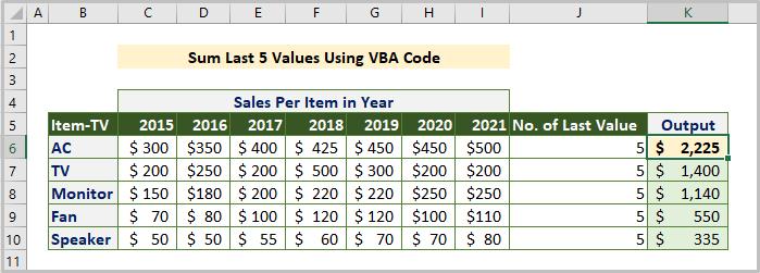 Using VBA Code