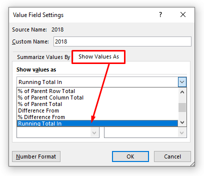 calculate ytd with pivot table