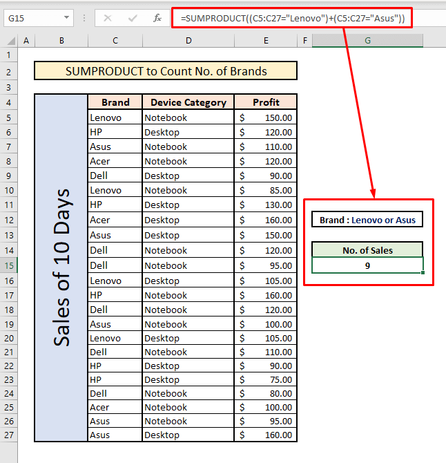 count unique values with sumproduct multiple or criteria