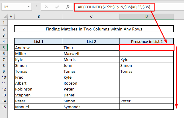 find duplicates in two columns overview