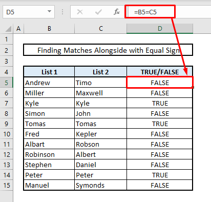 find duplicates in tow columns same row