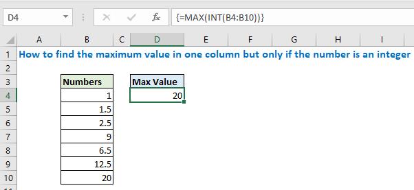 find maximum from float values
