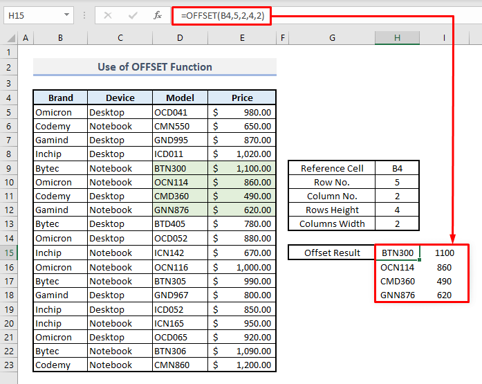 offset dynamic range in excel overview