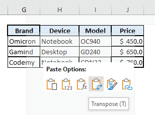 transposing data before filter multiple rows in excel