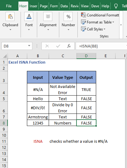 Overview - Excel ISNA Function