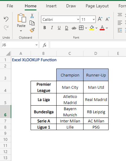 multi-way fetch - data - Excel XLOOKUP Function