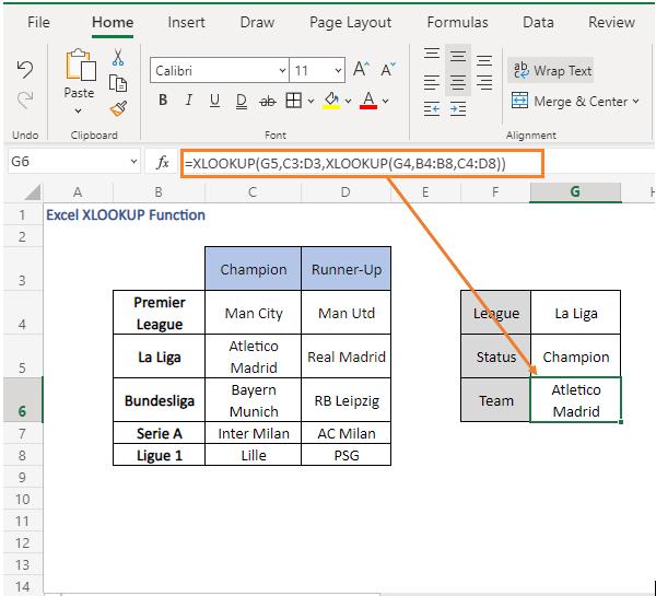 multi-way fetch - result - Excel XLOOKUP Function