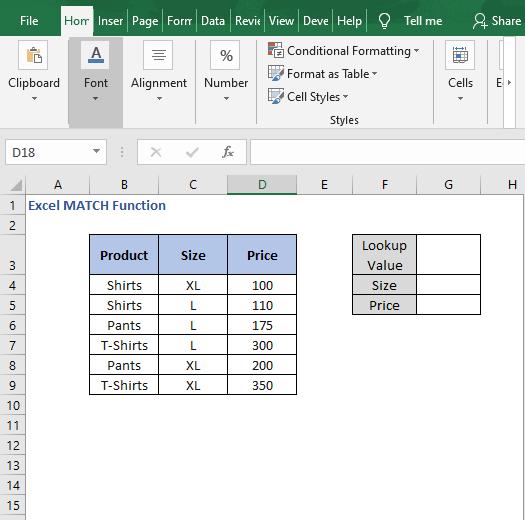 Array formula data - Excel MATCH Function