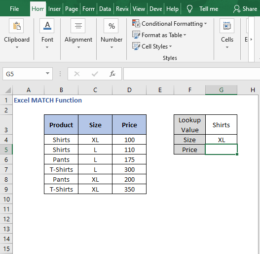 Criteria in array formula - Excel MATCH Function