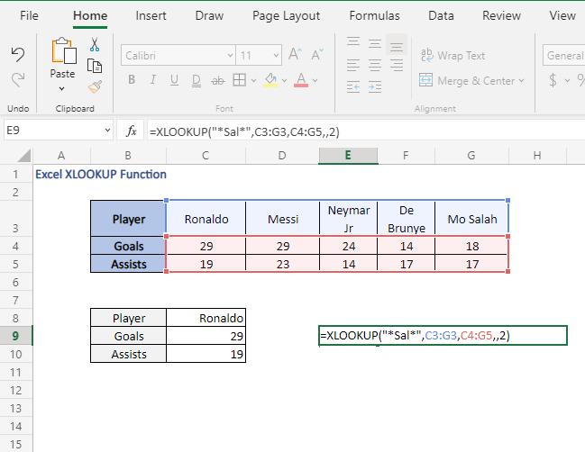 Wildcards - Excel XLOOKUP Function