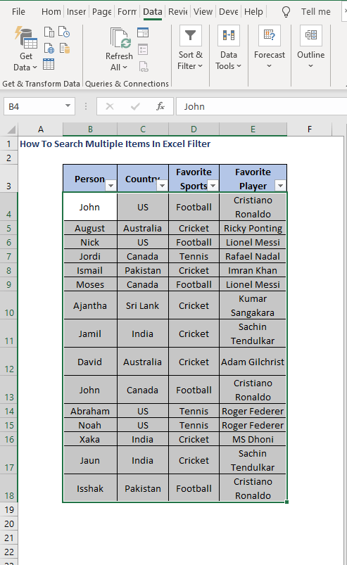 Filter Icon - How To Search Multiple Items In Excel Filter