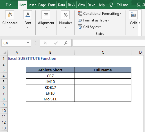 Multiple replace data - Excel SUBSTITUTE Function