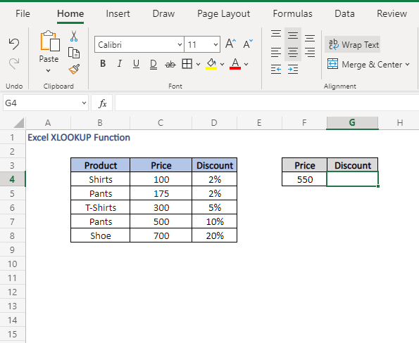 Approximate match - Excel XLOOKUP Function