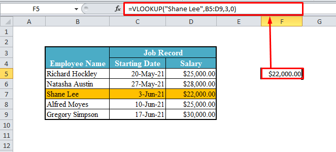 Non-Array VLOOKUP Function