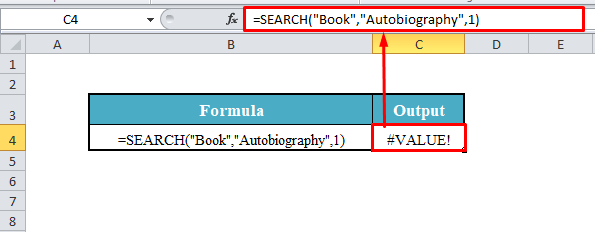 SEARCH Function with No Match