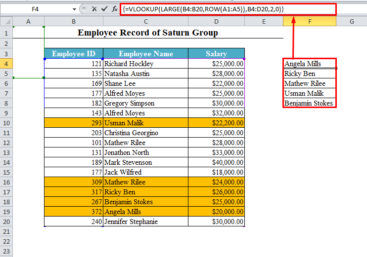VLOOKUP for Holders of n Top Values
