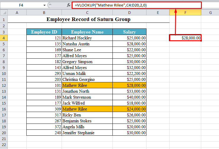 VLOOKUP with Duplicates