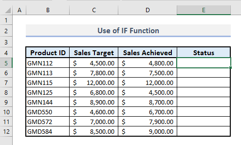 if function to show statements based on logical test