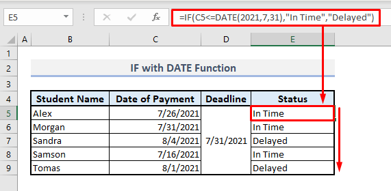 if with date function in excel
