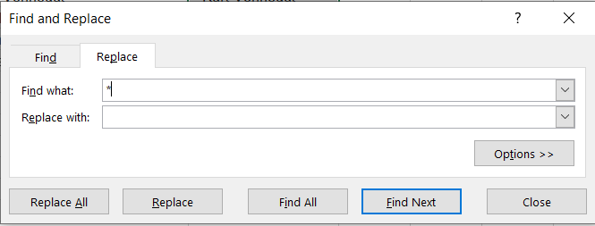 Select the asterisk (*) symbol