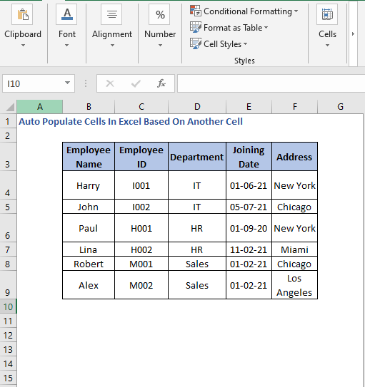 Data - Auto Populate Cells In Excel Based On Another Cell