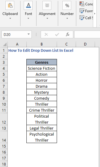 Data - How To Edit Drop Down List In Excel