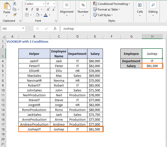 Change in criteria value - VLOOKUP with 2 Conditions