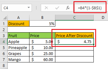 Ctrl + D for Copying the Formula Across a Column