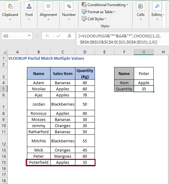 Change of values - VLOOKUP Partial Match Multiple Values