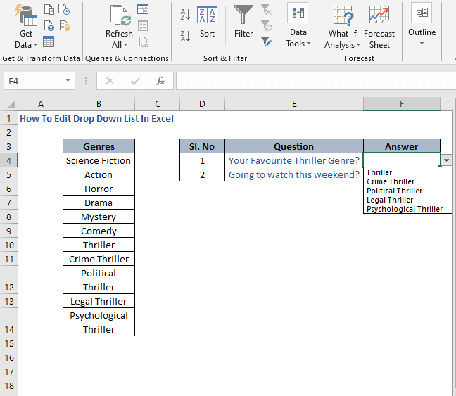 Modified drop down list - How To Edit Drop Down List In Excel