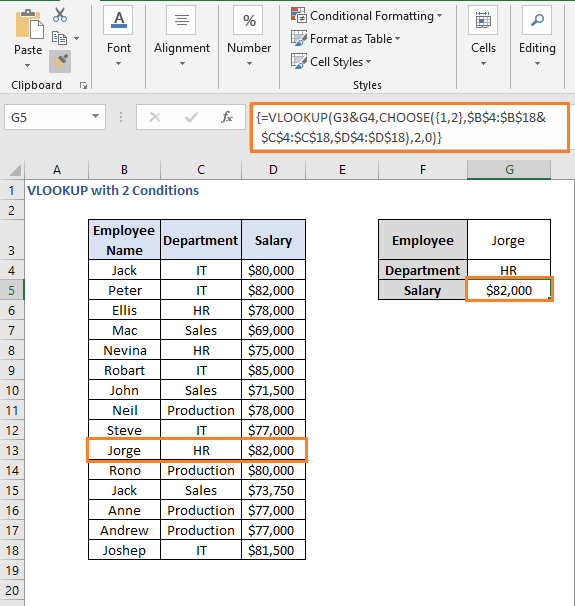 Change value - VLOOKUP with 2 Conditions