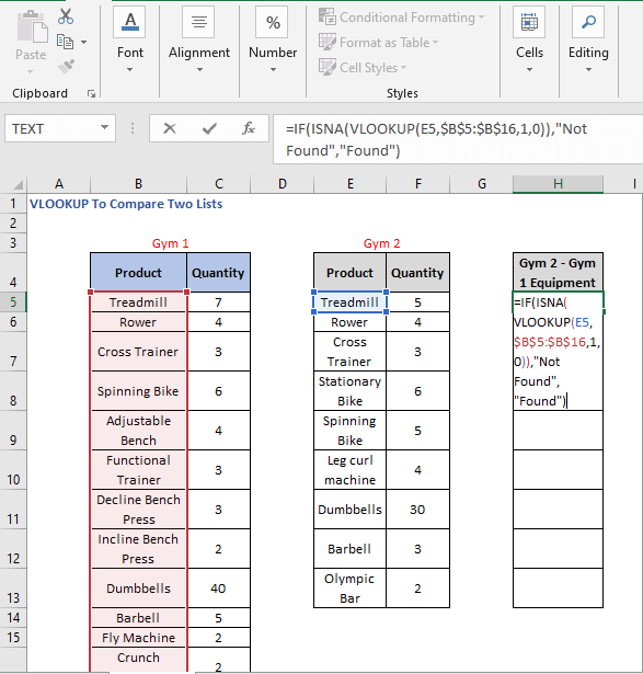 Alternative IF statement formula - VLOOKUP To Compare Two Lists