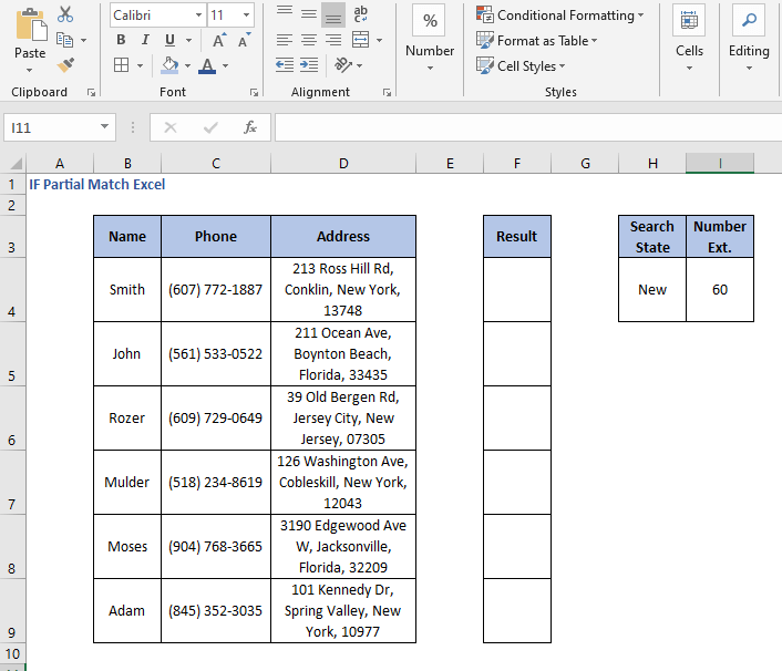 OR operation data criteria - IF Partial Match Excel
