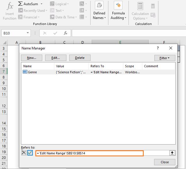 Change in range - How To Edit Drop Down List In Excel