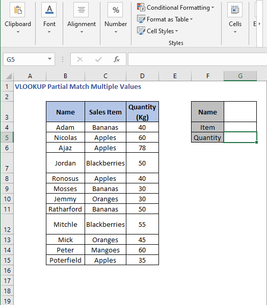 Criteria - VLOOKUP Partial Match Multiple Values