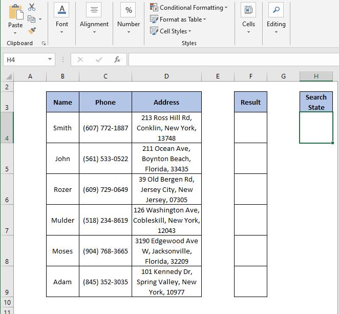 Criteria - IF Partial Match Excel