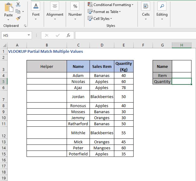 Helper column - VLOOKUP Partial Match Multiple Values